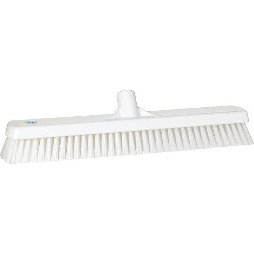 """Vikan 2.5""""x18.5"""" White Deck Scrub - Stiff Bristled"""