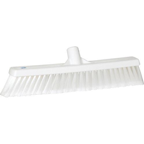 """Vikan 2""""x16"""" White Broom - Soft Bristled"""