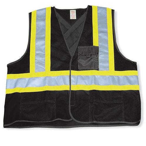 Black 100% Polyester Safety Vest