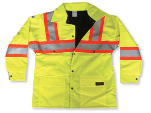 100% Nylon Lime Green Jacket w/ Fleece Lining