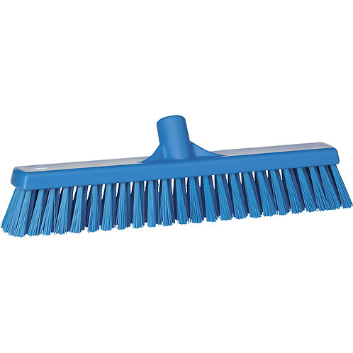 """Vikan 2""""x16"""" Blue Broom - Soft/Hard Bristled"""