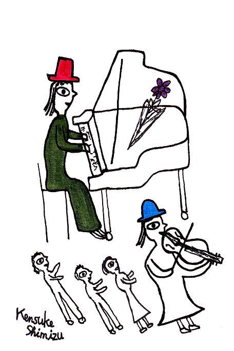 清水研介の作品。ピアノ11. Kensuke  Shimizu. Piano 1