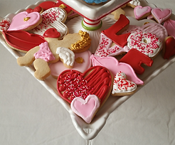 Assorted Valentine's Cut-Out Cookies