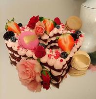 """8"""" Heart Cream Tart"""