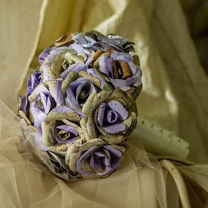 Steam Punk Paper Roses Bouquet