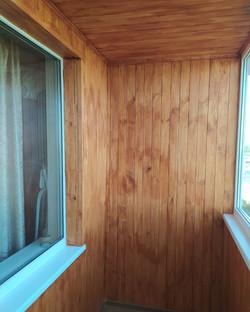 Внутренняя отделка балкона за два дня