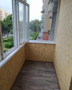 Укладка пола на балкон с утеплением