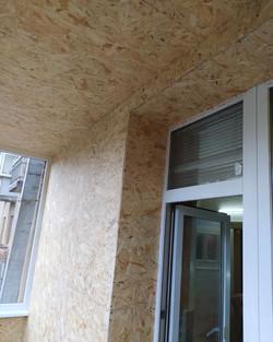 Внутренняя обшивка балкона ОСБ
