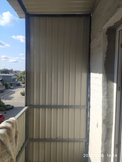 Ремонт балкона с расширением в Харькове
