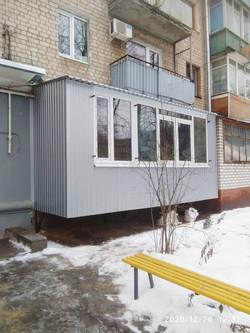 ПРистрел балкона в Харькове