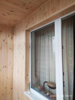 Утеплить и обшить балкон вагонкой в Харькове
