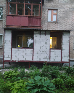 Пристройка балкона с кирпича в Харькове и Харьковской области