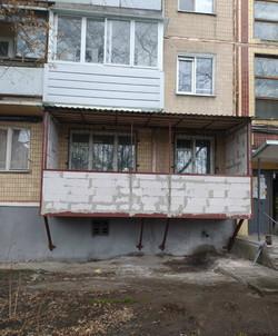 Пристройка балкона с газоблока в Харькове и Харьковской области