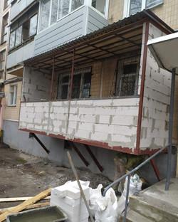 Пристройка балкона в Харькове