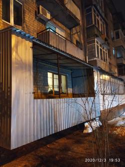 Наружная обшивка балкона в Харькове
