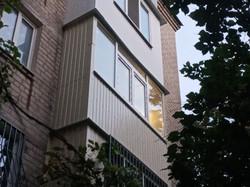 Наружная обшивка балкона под ключ в Харькове