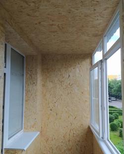 Утепление балкона и обшивка внутренняя ОСБ