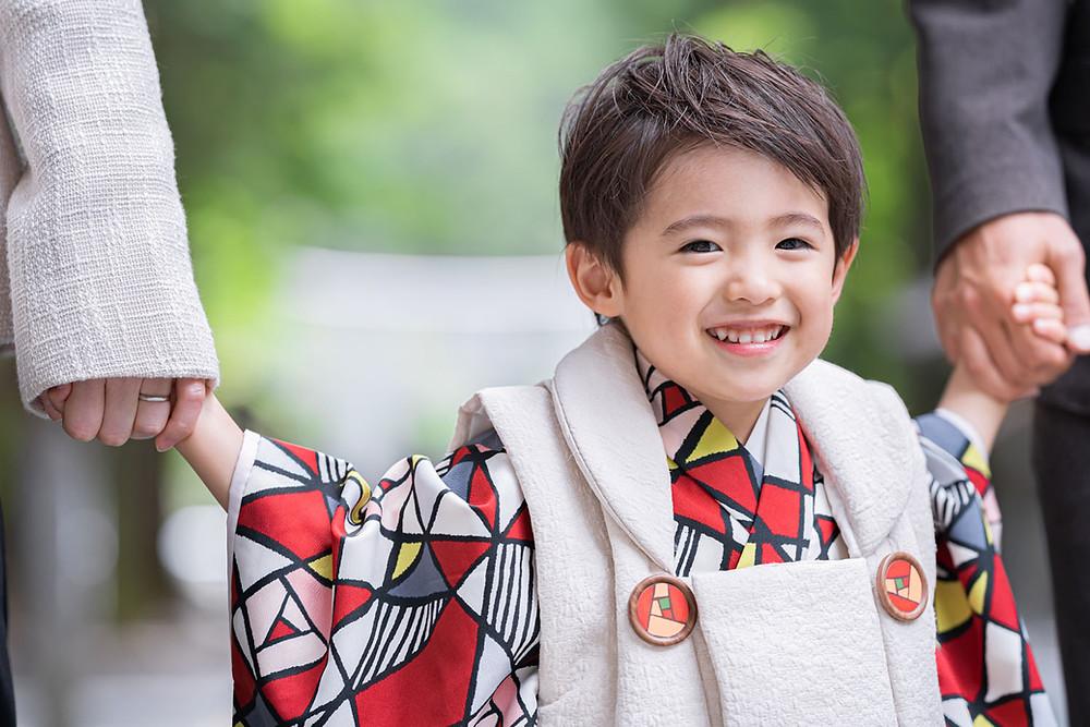 浜松のカメラマンが小國神社で七五三前撮りをした3歳の男の子
