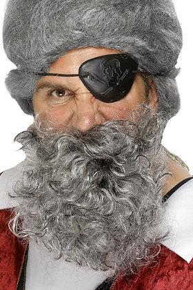 Deluxe Pirate Beard Grey