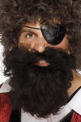 Deluxe Pirate Beard Brown