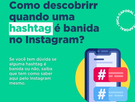 Hashtags banidas do Instagram