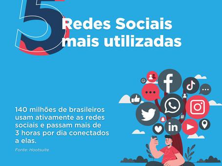 5 Redes Sociais mais utilizadas
