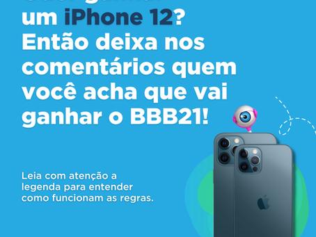 Quer ganhar um iPhone 12?