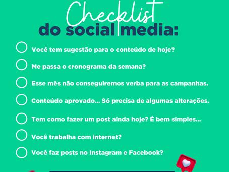 Checklist do social media