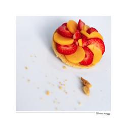 Tarte mangue-fraise