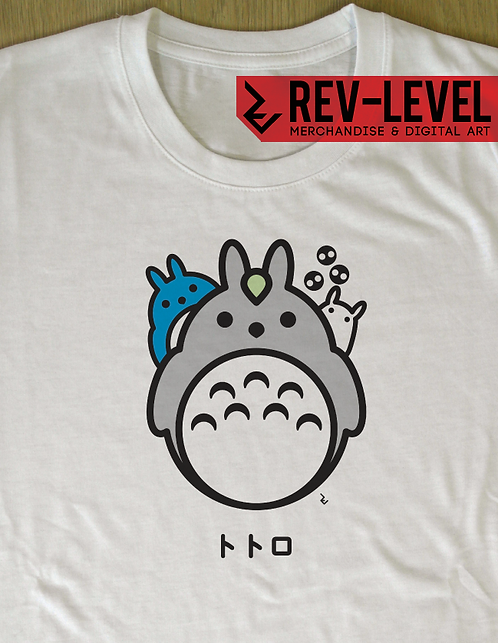 My Neighbour Totoro Japanese Minimalist T-Shirt - トトロ Miyazaki Tee
