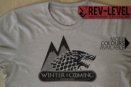 Game of Thrones Winter Is Coming Snowboard T-Shirt - GoT House Stark Sigil