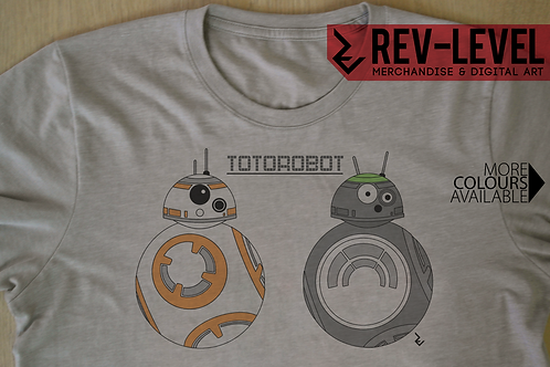 Totorobot and BB8 - My Neighbour Totoro X Star Wars T-Shirt - Totoro X BB 8 Tee
