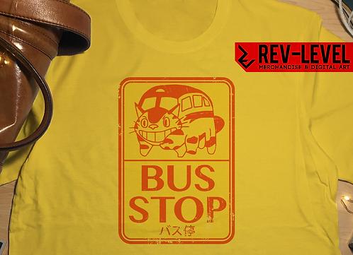 Totoro Catbus Bus Stop T-shirt - Studio Ghibli Miyazaki by Rev-Level