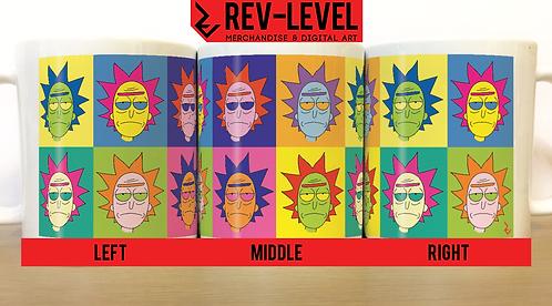 Rick and Morty Andy Warhol Inspired Mug - Rick Sanchez Pop Art homage Cup