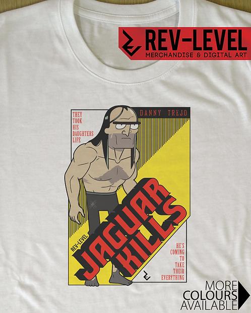 Rick and Morty 'Jaguar Kills' Movie Poster T-Shirt - Inspired by Danny Trejo