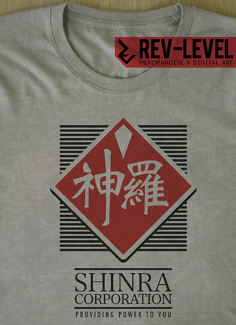 Final Fantasy VII Shinra Corp T-Shirt - Inspired by FF7 Corporation by Rev-Level