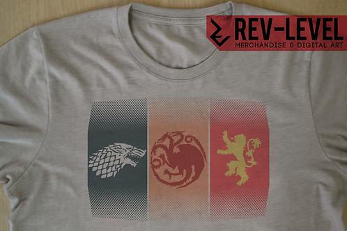 Game of Thrones Stark Targaryen Lannister Sigils T-Shirt - GoT