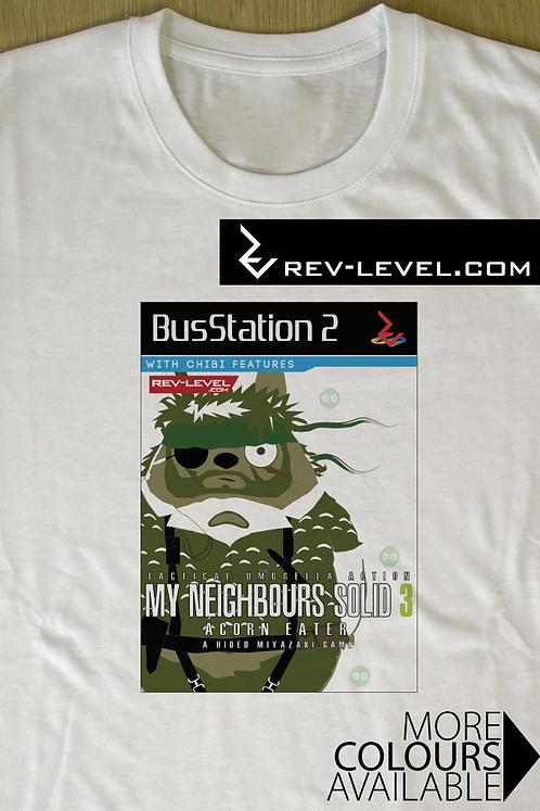 My Neighbours Solid - Acorn Eater T-Shirt - Totoro X Snake Tee - Ghibli X MGS