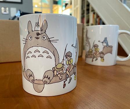 Totoro and Friends Sketch Mug - Miyazaki's Studio Ghibli Mug