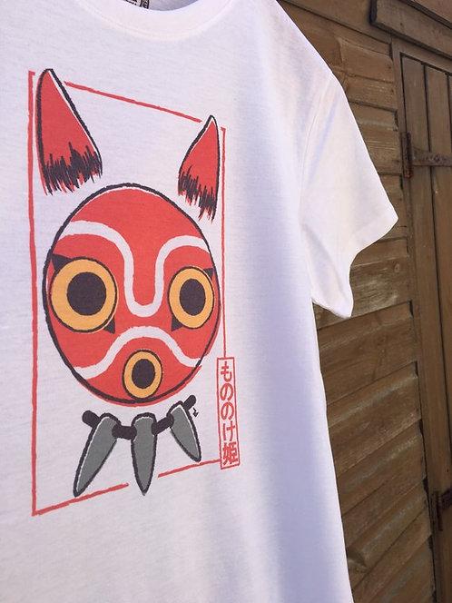 Princess Mononoke San Mask Card Tee - Mononoke Hime もののけ姫 Ghibli T-Shirt