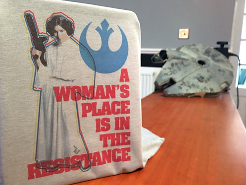 Star Wars Feminist Princess Leia T-Shirt - Propaganda For Women to Join