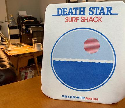 Star Wars Retro Death Star Surf Shack Poster T-Shirt - Old School Skater Tee