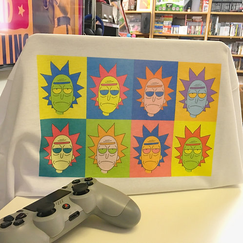 Rick and Morty Andy Warhol Inspired T-Shirt - Rick Sanchez Pop Art Homage