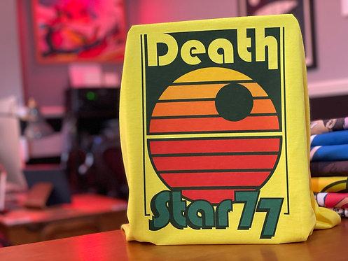 Star Wars Retro Death Star 77 Poster T-Shirt - Old School Disco Tee
