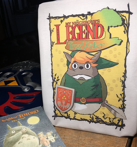 My Neighbours Legend - Tree Waker Zelda T-Shirt - Totoro X Link Tee