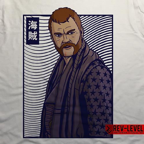 Game of Thrones Euron Greyjoy 海賊 Kaizoku T-Shirt Inspired by G.R.R. Martin