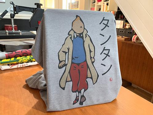Tintin タンタン Japanese Artwork Tee - Inspired By Herge and Japanese Minimalism