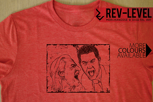 Twin Peaks BOB and Agent Cooper Laughing Sketch T-Shirt - Inspired Laughing BOB