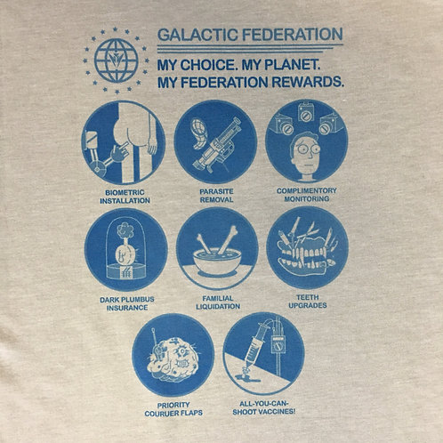 Rick and Morty Earth Galactic Federation Rewards T-Shirt - Funny Prison Tee