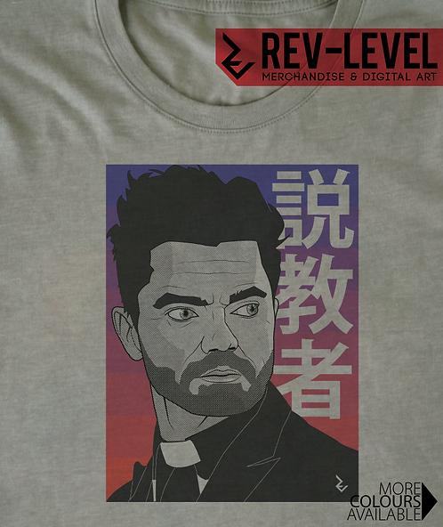 Preacher Japanese T-Shirt - 説教者 Inspired by Dominic Cooper, Garth Ennis Tee